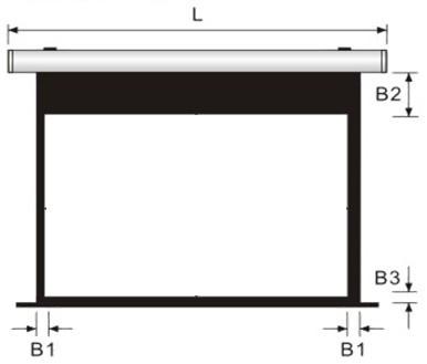 晶美系列-手拉銀幕銀幕尺寸